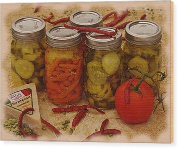 Pickled Still Life Wood Print