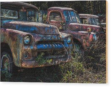 Pickup Line Wood Print