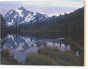 Picture Lake - Mt. Shuksan Wood Print