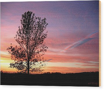 Wood Print featuring the photograph Picture Perfect Sunset 6014 by Maciek Froncisz