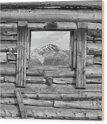 Wood Print featuring the photograph Picture Window #2 by Eric Glaser