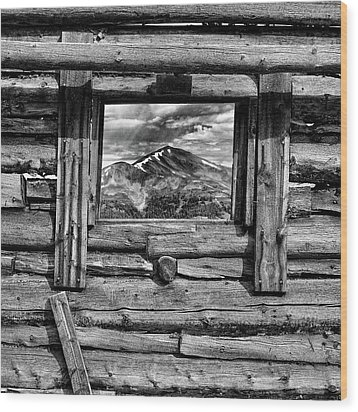 Wood Print featuring the photograph Picture Window #3 by Eric Glaser