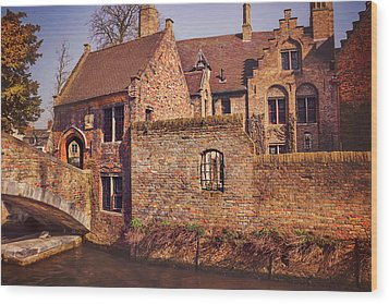 Wood Print featuring the photograph Picturesque Bruges  by Carol Japp