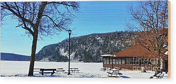 Picturesque Devil's Lake Wood Print by Ricky L Jones