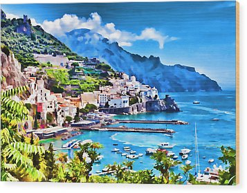 Picturesque Italy Series - Amalfi Wood Print by Lanjee Chee