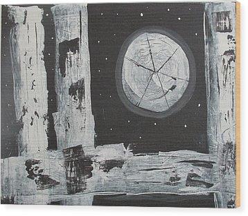 Pie In The Sky Wood Print