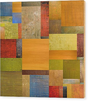 Pieces Project Ll Wood Print by Michelle Calkins