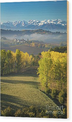 Wood Print featuring the photograph Piemonte Morning by Brian Jannsen