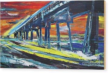 Pier #9 Wood Print