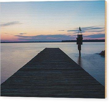 Pier At Sunset 16x20 Wood Print