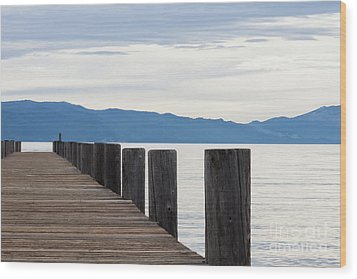 Wood Print featuring the photograph Pier On The Lake by Ana V Ramirez