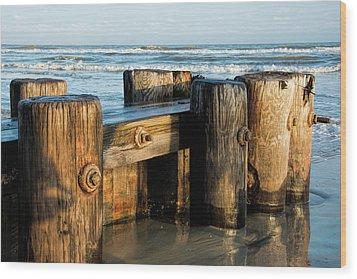 Pier Perspective Wood Print