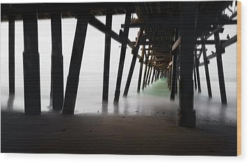 Wood Print featuring the photograph Pier Pressure by Sean Foster