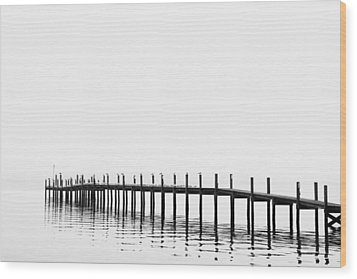 Pier Wood Print by Skip Nall