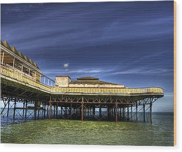 Pier Structure Wood Print by Svetlana Sewell