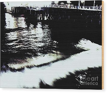 Wood Print featuring the photograph Pier by Vanessa Palomino