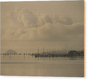 Pier Wood Print by Vari Buendia
