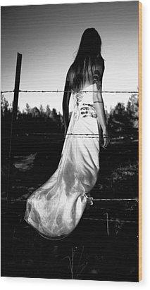 Pierced Dress Wood Print by Scott Sawyer