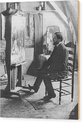 Piet Mondrian (1872-1944) Wood Print by Granger