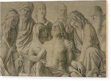 Pieta Wood Print by Giovanni Bellini