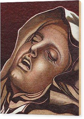 Pieta Wood Print by Jerry  Stith