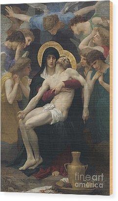 Pieta Wood Print by William-Adolphe Bouguereau
