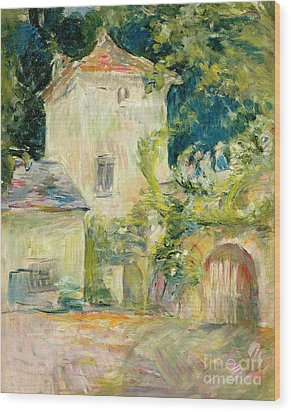 Pigeon Loft At The Chateau Du Mesnil Wood Print by Berthe Morisot
