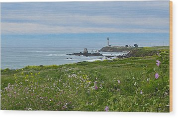 Pigeon Point Lighthouse Wood Print by Mark Barclay
