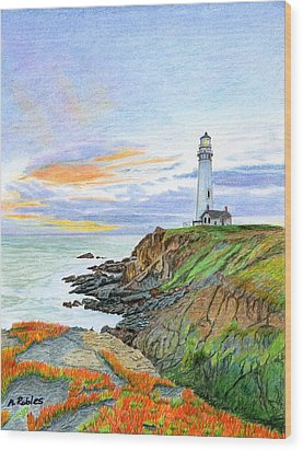 Pigeon Point Sunset Wood Print