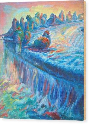 Pigeon Symphony Wood Print