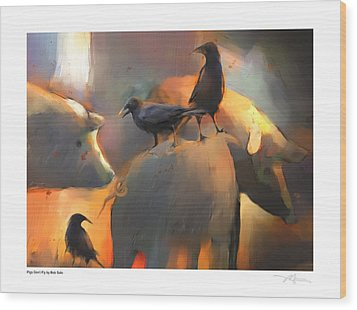 Pigs Don't Fly Wood Print by Bob Salo