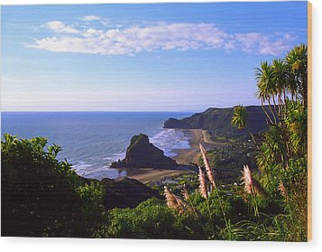 Piha Panorama Wood Print by Kevin Smith