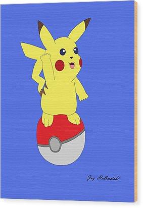 Pikachu Wood Print