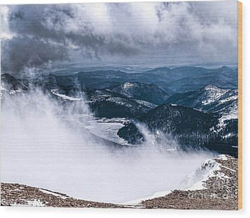 Wood Print featuring the photograph Pikes Peak by Anthony Baatz