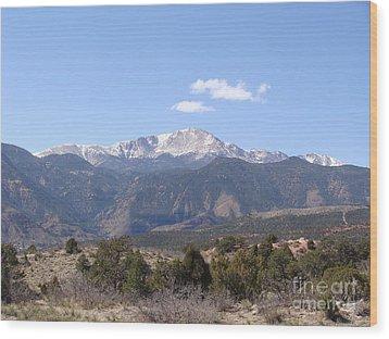 Pikes Peak Colorado One Wood Print