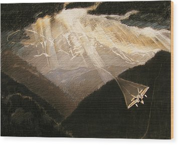 Pikes Peak Flight Wood Print by Nils Bifano