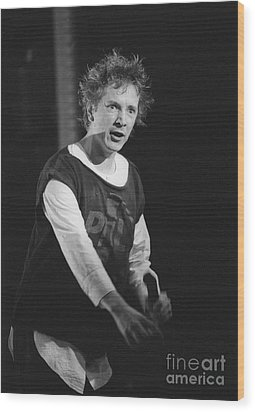 Pil Johnny Came On Stage Wood Print by Philippe Taka