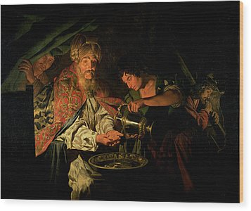 Pilate Washing His Hands Wood Print by Stomer Matthias
