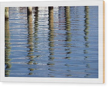 Wood Print featuring the photograph Pilings Beaufort Nc by Phil Mancuso