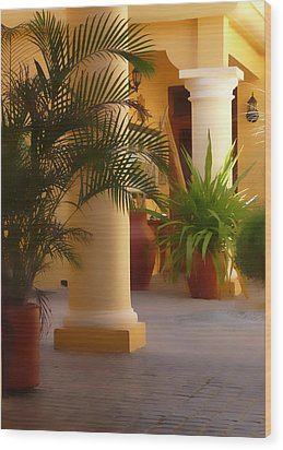Pillars And Palms Wood Print