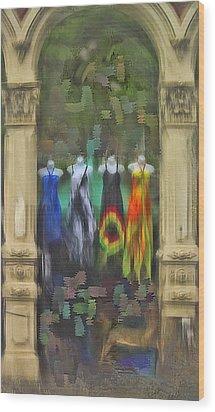 Wood Print featuring the digital art Piller Dresses by Dale Stillman