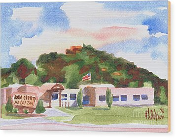 Wood Print featuring the painting Pilot Knob Mountain W401  by Kip DeVore