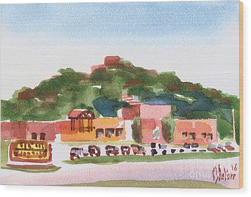 Wood Print featuring the painting Pilot Knob Mountain W402 by Kip DeVore