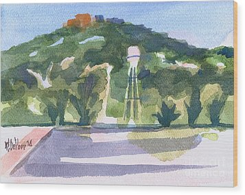 Wood Print featuring the painting Pilot Knob Mountain W404 by Kip DeVore