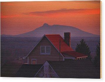 Pilot Sunset Overlook Wood Print by Kathryn Meyer