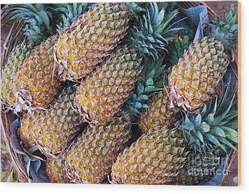 Wood Print featuring the photograph Pinapples by Tim Gainey