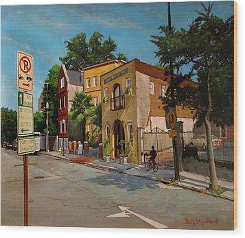 Pinckney Inn - Charleston Sc Wood Print by Doug Strickland