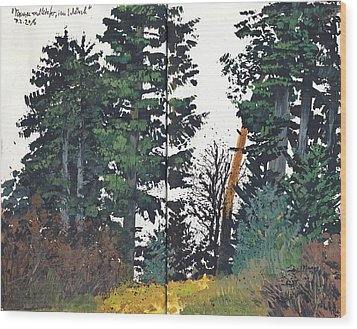 Pine And Fir Tree Forest Wood Print