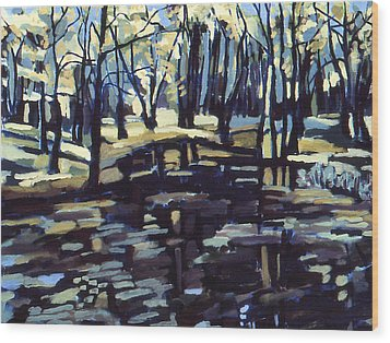 Pine Barrens Wood Print by Doris  Lane Grey