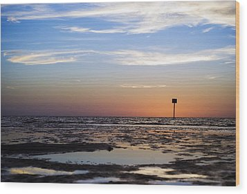 Pine Island Sunset Wood Print